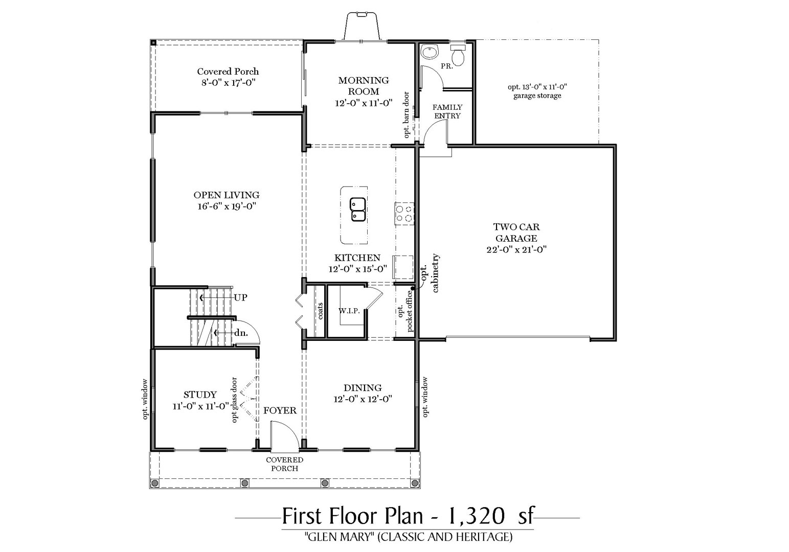 Classic and Heritage First Floor Plan