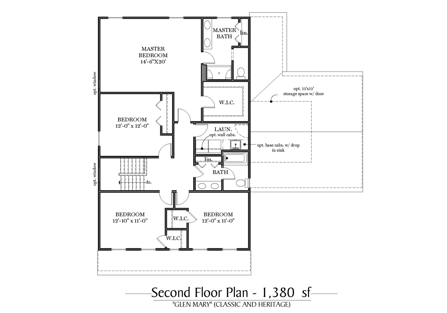 Classic and Heritage Second Floor Plan